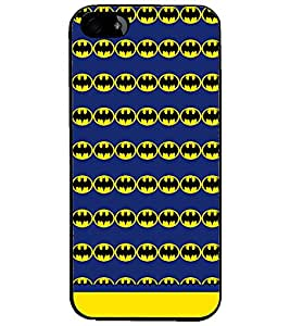PrintDhaba Bat Pattern D-1545 Back Case Cover for APPLE IPHONE 4S (Multi-Coloured)