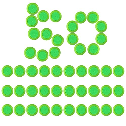 Disco de recambio suave bala dardos para Nerf Vortex Vigilon bláster Nitron Praxis Proton - verde, 30 piezas/50/70, 50PCS