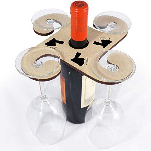 Azeeda 'Paese Giordano' Porta Bicchiere di Vino in Legno (GH00030420)