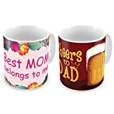 Best Mom Coffee Cups - Gift for Father Mother Dad Mom Birthday Anniversary Review
