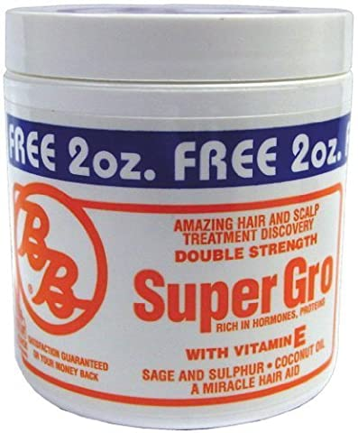 BB Super Gro Double Strength - Regular Bonus 6 oz. (Pack of 2) by Bronner Brothers by Bronner Brothers