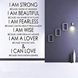 stickers muraux foret stickers muraux chambre bebe jungle I Am Strong Because I Know My Weakness For Living Room Or Bedroom