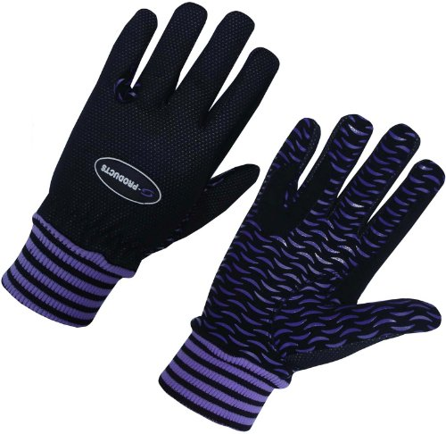 S-Products LADIES WINTER HORSE RIDING WIND RESISTANCE THERMAL EQUESTRIAN GIRL PURPLE GLOVES (XL)
