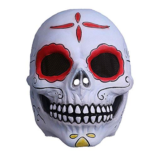 YaPin Zombie aus der Box Maske Hood Zombie Schlaues Gesicht Halloween Horror Perücke Set Makeup Spielen um den Film