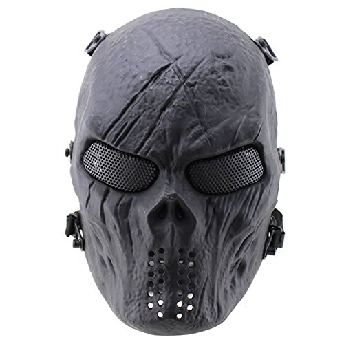 012765 Tastschalter New Emirate M06 Predator Maske, Full Face Scary -