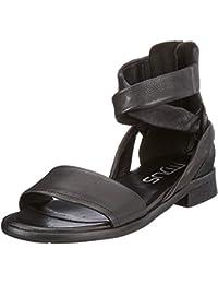 Sandali casual neri con cerniera per donna Lvrao