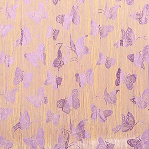 Balight farfalla stile finestra tenda string Room Door Divider Tassel tenda 39.4in x 78.8in, Purple, (Farfalla Strings)