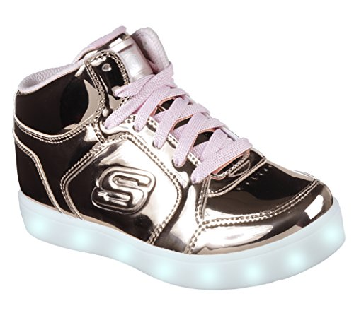Skechers energy lights, sneaker bambina, rosa (rose gold), 34 eu