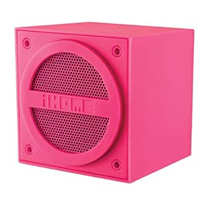 iHome iBT16 Bluetooth Rechargeable Mini Speaker Cube in Rubberised Finish - Pink