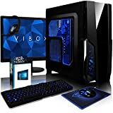 VIBOX Pyro SA8-52 Package - 3.8GHz AMD A8 Quad Core CPU, Desktop PC Computer with Game Bundle, 22