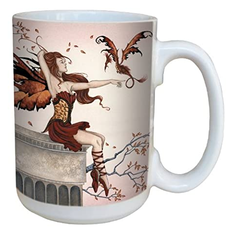 Tree-Free Greetings lm43597 15 oz Fantasy Touch of Enchantment Fairy Ceramic Mug with Full Sized