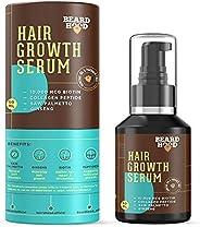 Beardhood Beard and Hair Growth Serum -Biotin, Collagen Peptide, Ginseng & Saw Palmetto,