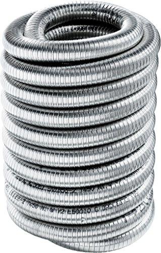 Articolo fumisteria, canna fumaria: flex doppia parete, tubo flessibile doppia parete diametro 130 mm, 1 metro