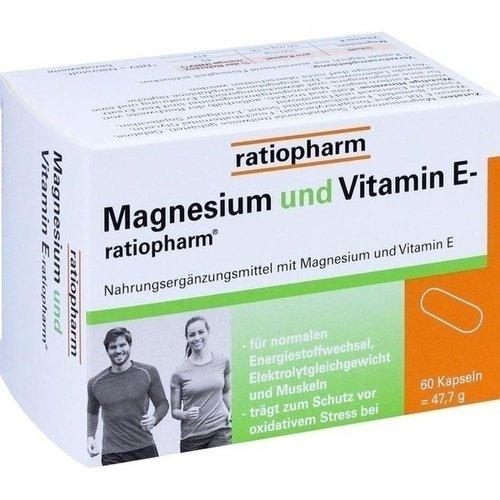 MAGNESIUM UND VITAMIN E ratiopharm Kapseln, 60 St