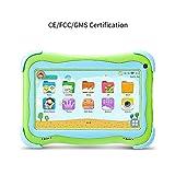 Tablette PC Tablet Q91 pour Enfants YUNTAB de 7 Pouces, Jouant et apprenant Android 8.1 A50 1.5GHZ Quad Core WiFi Dual Camera 3D Game avec étui pour Tablette (Green)