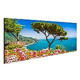 islandburner Quadri moderni Vista panoramica dello schermo vista sulla famosa Costiera Amalfitana con il Golfo di