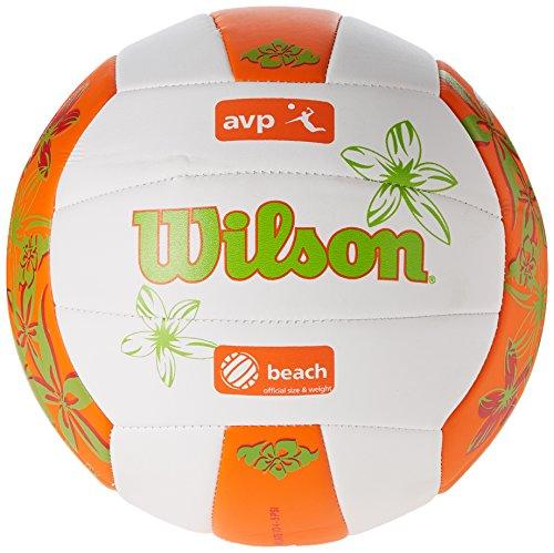 Wilson Volleyball, Outdoor, Freizeitspieler, AVP Hawaii, Weiß/ Orange/ Grün
