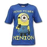 Minions Ich einfach Unverbesserlich Kinder Shirt T-Shirt (Blau, 122-128 (7-8 Jahre))