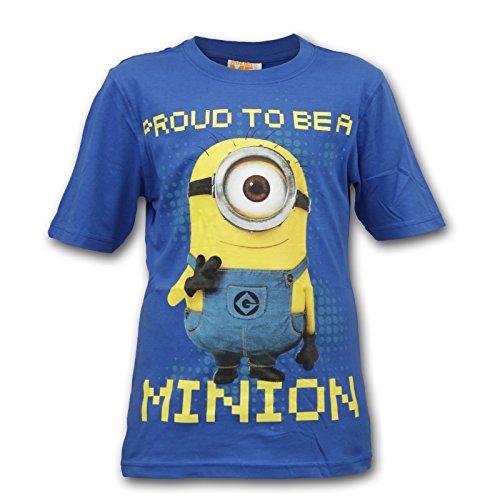 Minions Ich einfach Unverbesserlich Kinder Shirt T-Shirt (Blau, 158 (13 Jahre))
