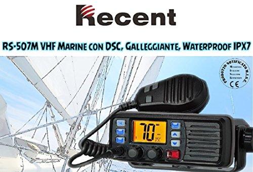 VHF NAUTICO RECENT RS-507M RICETRASMETTITORE DA PLANCIA RICETRASMITTENTE MARINO CON DSC IPX7 CON 10 CANALI METEO