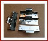 500 Stück Schiebehaften 55 mm Schiebebereich aus Edelstahl mit 25, 28 oder 32 mm Höhe (28 mm hoch)
