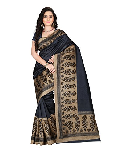 e-VASTRAM Women\'s Mysore Art Silk Saree (NS8C_Grey)