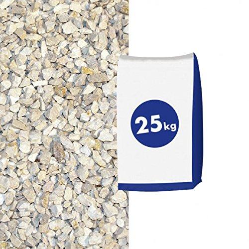 Kalksplitt Yellow Sun 22-45 mm 25kg Sack - Zierkies & Natursteine - zur dekorativen Gartengestaltung