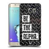 Head Case Designs Be The Alpha Fitness Typographie Soft Gel Hülle für Samsung Galaxy S6 Edge+ / Plus