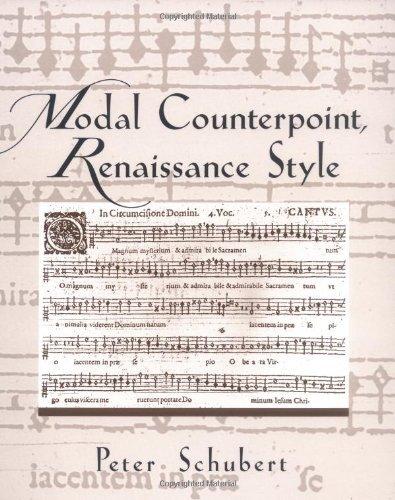 Modal Counterpoint, Renaissance Style by Peter Schubert (1999-07-29)