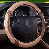 QLL Auto Lenkradbezug Vier Jahreszeiten Universal Breathable Slip Handschuhe,Beigebrown,38Cm