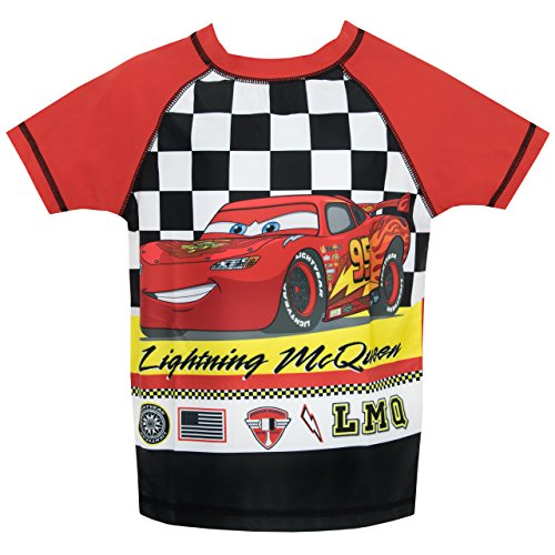 Image of Disney Cars Boys Lightning McQueen Two Piece Swim Set Age 6 to 7 Years