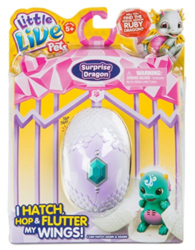 Little Live Pets Dragon Season 1 Single Pack - Blue/Green, Toys for Girls, 5 Years & Above, Robot Toys for Children, Animal