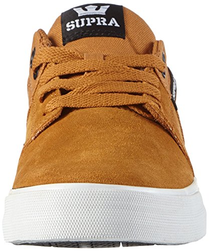 Supra Unisex-Erwachsene Stacks Vulc II Low-Top Braun (CATHAY SPICE / BLACK - WHITE SPI)
