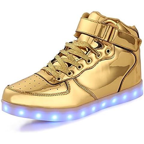 AFFINEST Alta Top USB ricarica LED lampeggiante moda scarpe per