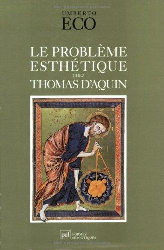 Le problème esthétique chez Thomas d'Aquin