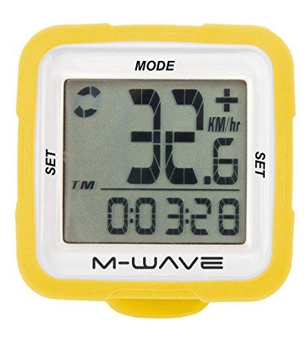 M-Wave Fahrradcomputer XIV Silicon, Gelb, 11116