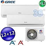 Climatizzatore inverter dual split BORA 12000 + 12000 Btu (U.E.18) GREE R32 classe A++/A+