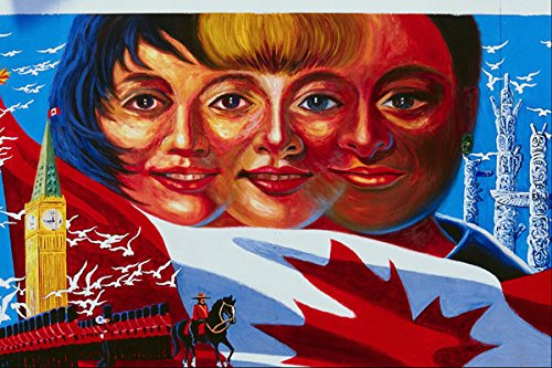 756035 Canadian Faces Mural A4 Photo Poster Print 10x8