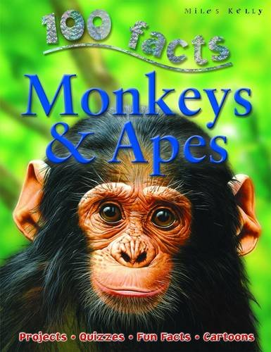 100 Facts - Monkeys & Apes Cover Image