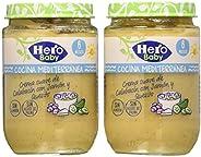 Hero Baby Cocina Mediterránea Tarrito de Crema Suave de Calabacin con Jamón y Queso para bebés a partir de 6 m