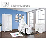 Babyzimmer Enni Hochglanz 19-tlg. mit 2 türigem Kl. + Textilien Matrose, Blau