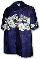 Pacific Legend | Original Hawaiian Shirt | For Men | S - 4XL | Short-Sleeve | Front-Pocket | Hawaiian-Print | Flower | blue