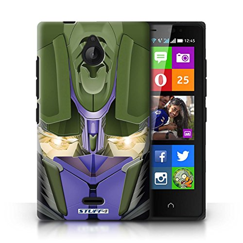 Kobalt® Imprimé Etui / Coque pour Nokia X2 Dual Sim / Opta-Bot Jaune conception / Série Robots Opta-Bot Bleu