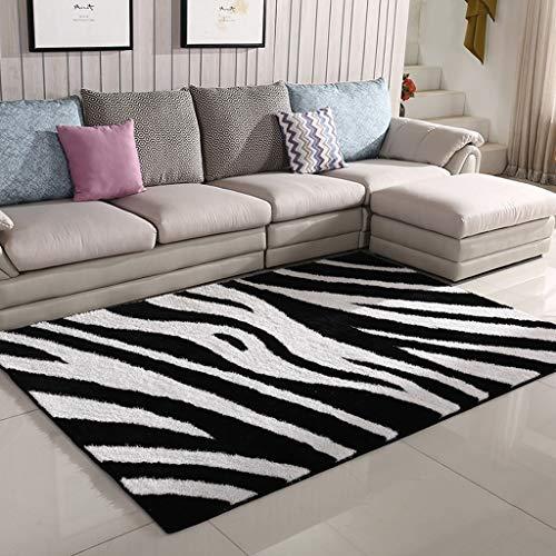 lquide Feine elastische Kaschmir Teppiche, Wohnzimmer Couchtisch Kissen Nacht Sofa Decke Teppich (schwarz, grau) (Größe: 0,7 * 1,5 m) - Kaschmir-schwarz-teppich