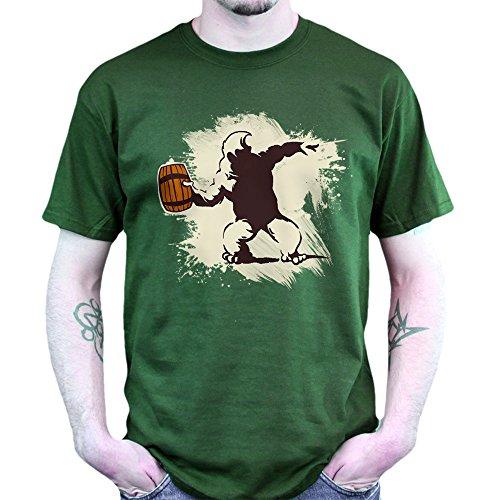 King Banksy Robbo Hooligan Graffiti Kunst Poster T-shirt Grün