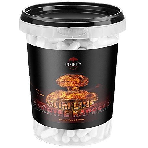 *300 Kapseln – Slim Line Grüntee Extrakt, Green Tea, Hochdosiert – 850mg pro Kapsel, Grüner Tee, Appetithemmer, Fettverbrennung*