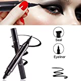 Eyeliner ,Eyeliner Stift , Schnell Trocken Wasserdicht Eye Liner Stift , Doppelkopf Schwarz Eyeliner Pen, plus Eye Wing Eyeliner Stempel ,Flüssigkeit Eyeliner Stift für perfekter Lidstrich,Cat-Eyes,Smokey Make-up