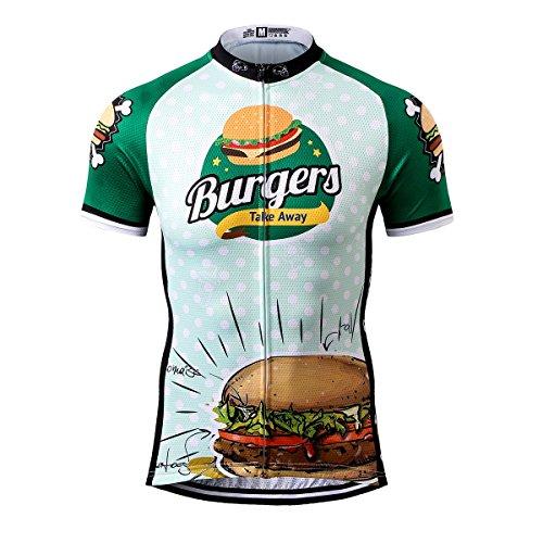 Thriller Rider Sports® Herren Burgers Sport & Freizeit MTB Fahrradbekleidung Radtrikot 3X-Large
