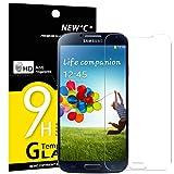 Panzerglas Samsung Galaxy S4, NEWC® Tempered Glass 9H Härte, Frei von Kratzern Fingabdrücken und Öl, HD Displayschutzfolie, 0.33mm Ultra-klar, panzerglas schutzfolie für Samsung Galaxy S4