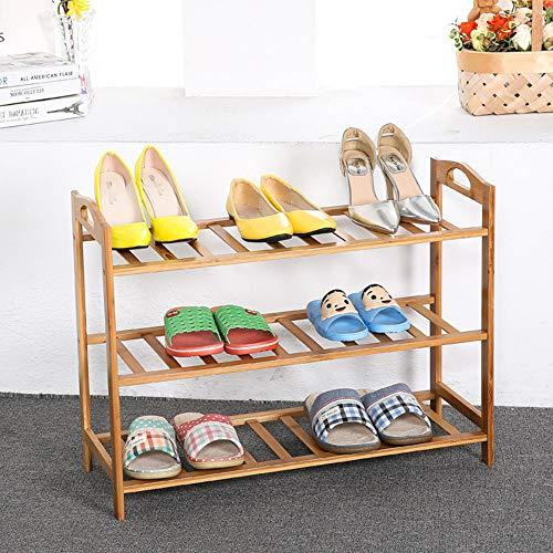 GRF Multi-Layer-Schuhregal Einfache Schuhschrank Massivholz Staub Bambus Schuhe Regal Schlafsaal Lagerung